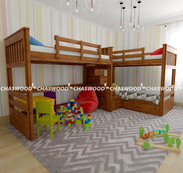 Двухъярусная кровать Саванна трио