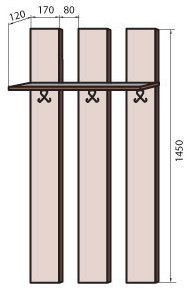Вешалка (М-18) системы Соломия