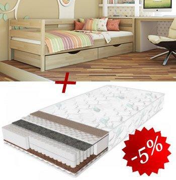 Комплект кровать Нота + матрас Daily 2in1 80см + 2 ящика