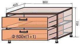 Корпус модуля тумбы (М-2) системы Сафари