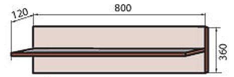 Корпус модуля полки (М-10) системы Сафари