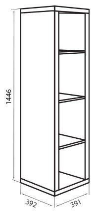 Корпус модуля пенала (D-1) системы Домино