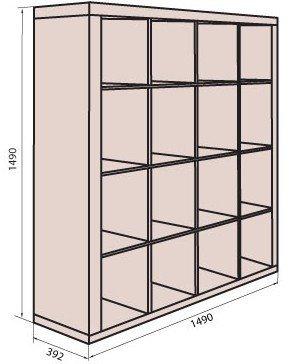 Корпус модуля шкафа (D-4) системы Домино
