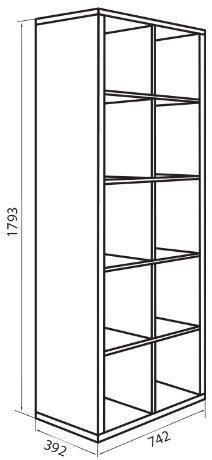 Корпус модуля шкафа (D-8) системы Домино