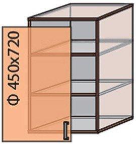 Модуль №4 в 450-720 верх кухни «Квадро»