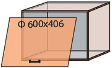 Модуль №13 в 600-406 верх кухни «Квадро»