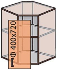Модуль №14 в 580-720 верх кухни «Квадро»