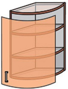 Модуль №16 вс 600-360 верх кухни «Квадро»