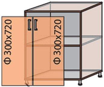 Модуль №6 н 600-820 низ кухни «Квадро»