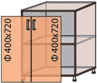 Модуль №7 н 800-820 низ кухни «Квадро»