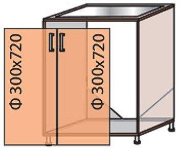 Модуль №13 м 600-820 низ кухни «Квадро»