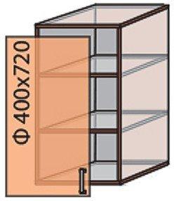 Модуль №3 в 400-720 верх кухни «Мода»