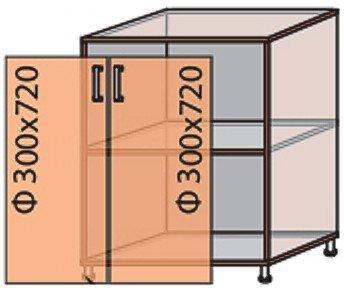 Модуль №6 н 600-820 низ кухни «Мода»