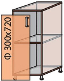Модуль №2 н 300-820 низ кухни «Мода»