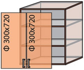 Модуль №6 в 600-720 верх кухни «Флоренция»