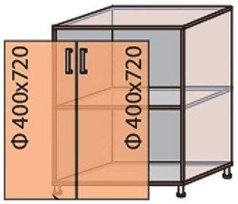 Модуль №8 ш 300-820 (1+2) низ кухни «Флоренция»