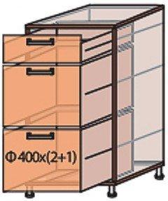 Модуль №9 ш 400-820 (1+2) низ кухни «Флоренция»