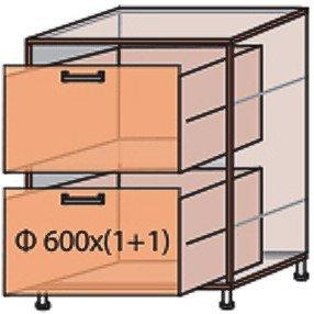 Модуль №10 ш 600-820 (1+1) низ кухни «Флоренция»