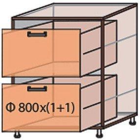 Модуль №11 ш 800-820 (1+1) низ кухни «Флоренция»