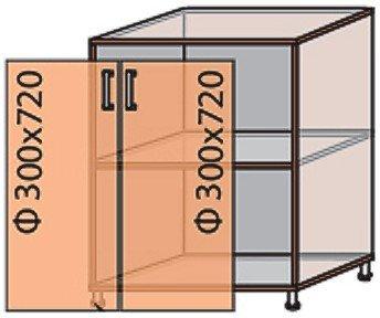 Модуль №6 н 600-820 низ кухни «Виктория New»