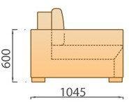 Модуль Угол для модульного дивана Сиена