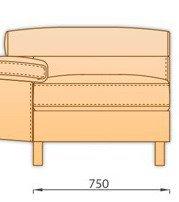 Модуль 1С75 для модульного диван Магнум
