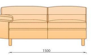 Модуль 2С150 для модульного диван Магнум