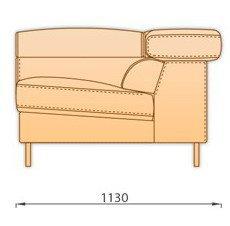 Модуль угол с подголовниками для модульного диван Магнум