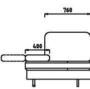 Модули спинка+механический подлокотник П/мех-1С96 / П/мех-1С106 / П/мех-1С121 модульного дивана Римини
