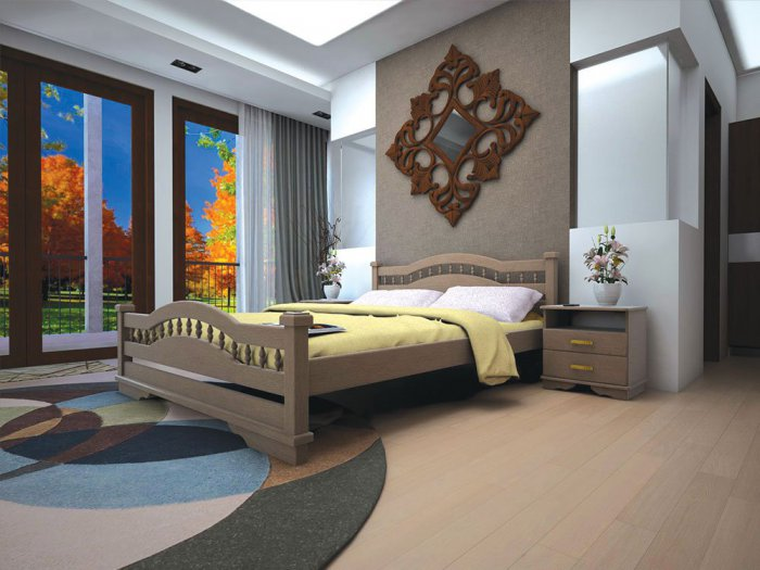 Полуторная кровать Атлант 7 - 140см
