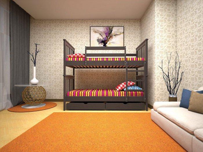 Двухъярусная кровать Трансформер 4 - 90x190-200см