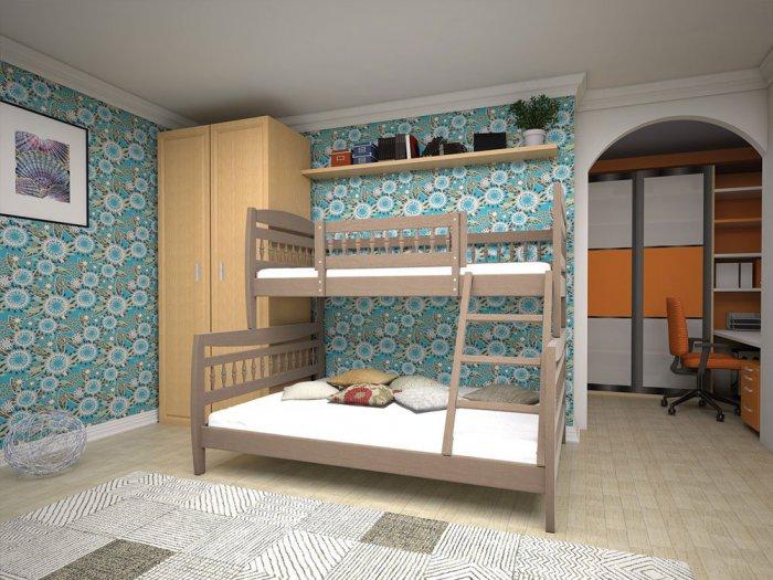 Двухъярусная кровать Комби - 90х140х200см
