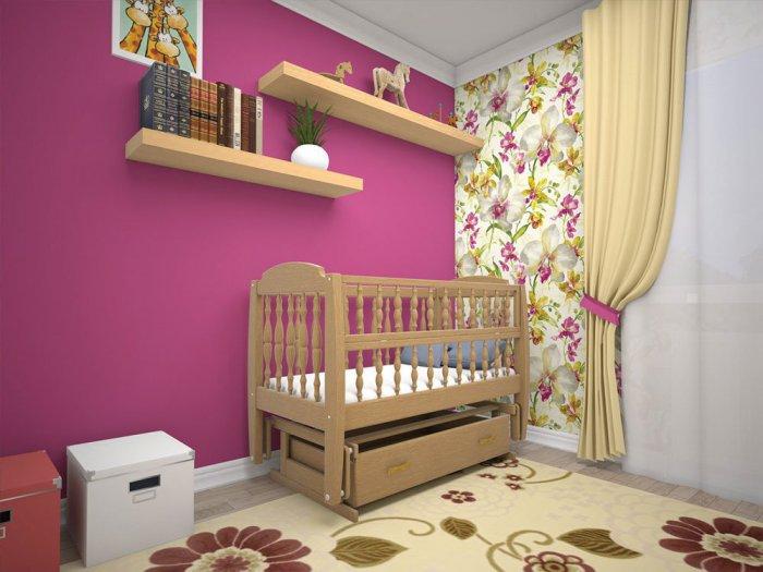 Односпальная кровать -колыбель для новорожденных Каприз