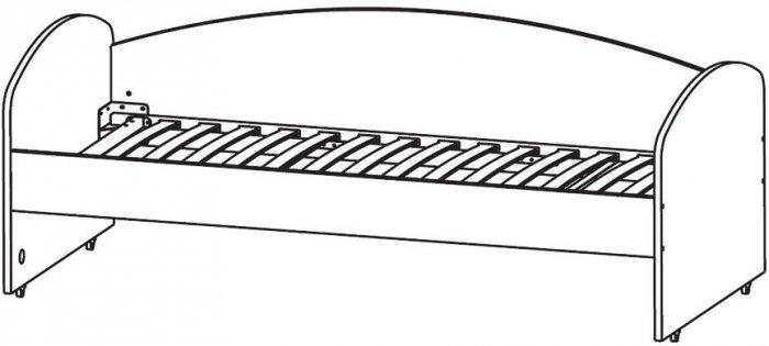 Кровать средняя (с основанием) 200х75 Фламинго