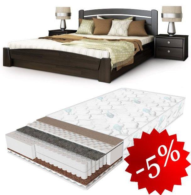 Комплект: кровать Селена Аури + матрас Daily 2in1 160см
