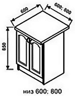 Низ 600 1 ящик для кухни Оникс