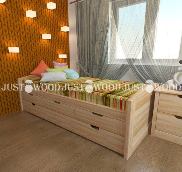 Детская кровать Капитошка (2 спальных места) - 80х160см