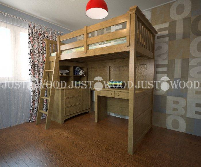 Детская двухъярусная кровать Джерри (комплект мебели)