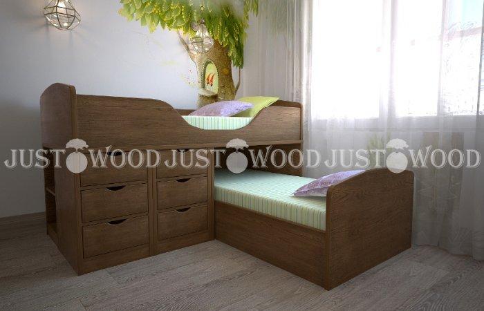 Детская двухъярусная кровать Умка