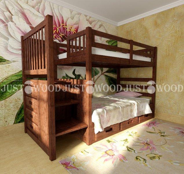 Детская двухъярусная кровать Шериф