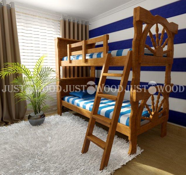 Детская двухъярусная кровать Матроскин