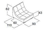 Одинарный модуль дивана Токио
