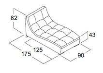 Модуль шезлонг дивана Токио