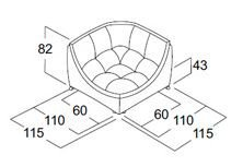 Угловой модуль дивана Токио