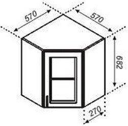 Тумба верхняя угловая 57×57Ск Корона