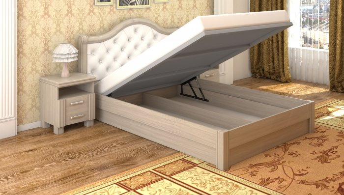 Полуторная кровать Екатерина - 120x200см c механизмом