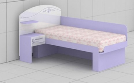 Кровать L-22,23 Гламур