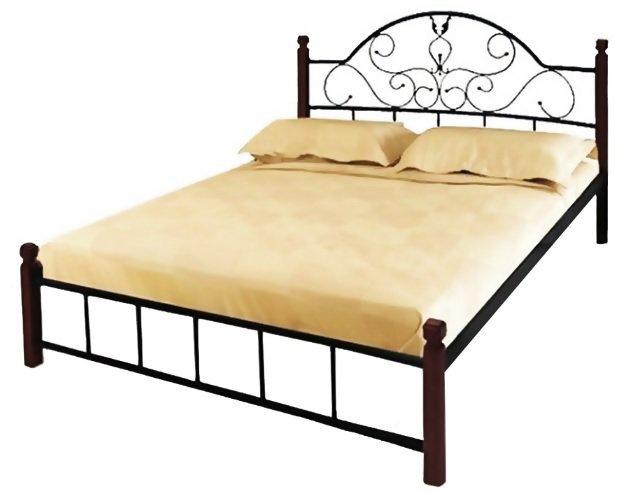 Полуторная кровать Анжелика дерево - 140х190-200см