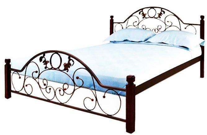 Полуторная кровать Франческа дерево - 140х190-200см