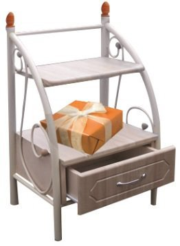 Тумба прикроватная полочки+ящик